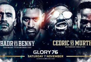 Glory kondigt alle gevechten voor 7 november aan
