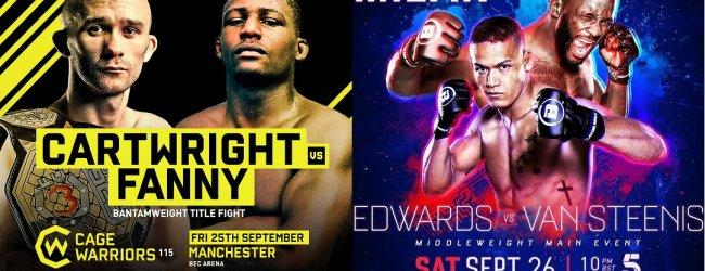 Nederlanders in belangrijke Main Event partijen deze week voor Cage Warriors en Bellator MMA