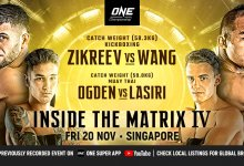 Uitslagen : ONE Championship 121 : Inside the Matrix IV
