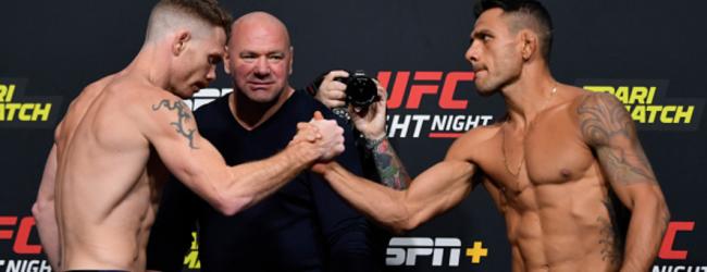 UFC Vegas 14 moet door met 10 partijen na twee gecancelde Main Card gevechten