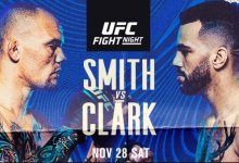Uitslagen : UFC on ESPN 18 Las Vegas : Smith vs. Clark