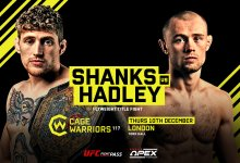 Uitslagen : Cage Warriors 117 : Shanks vs. Hadley