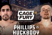 Uitslagen : CFFC 90 : Phillips vs. Huckbody