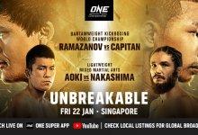 ONE Championship komt met driedelig 'Unbreakable' evenement