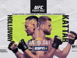 Uitslagen : UFC on ABC 1 : Holloway vs. Kattar