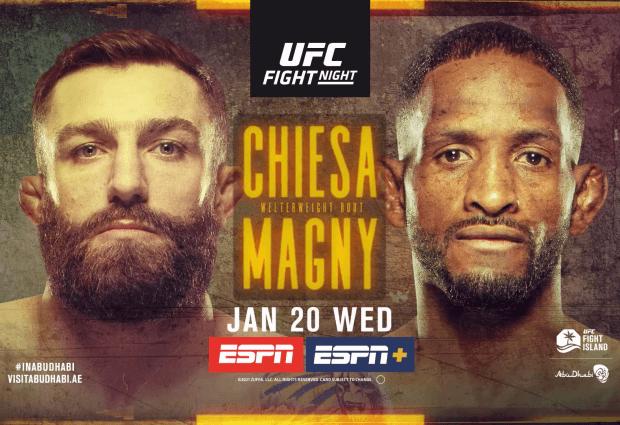 Uitslagen : UFC on ESPN 20 : Chiesa vs. Magny