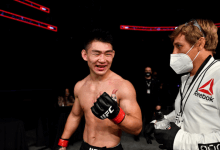 Song Yadong treft Kyler Phillips tijdens UFC 259 op 6 maart